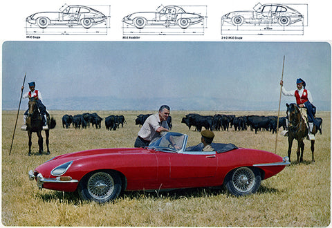 1967 Jaguar XK-E - Promotional Advertising Poster