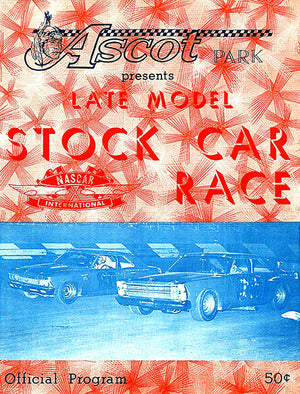 1967 Late Model Stock Car Races - Ascot Park - Program Cover Poster