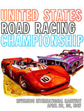 1967 US Road Racing Championship - Riverside - Promotional Advertising Poster