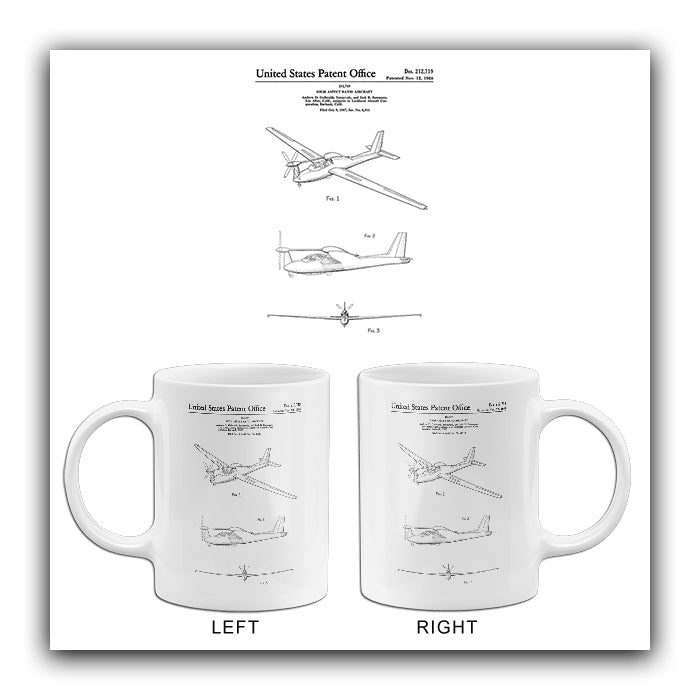 1968 - Lockheed QT-2 Q-Star Observation Aircraft - A. D. Galbraith - Patent Art Mug