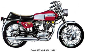 1968 Ducati 450 Mark 3 D - Promotional Advertising Magnet