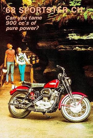 1968 Harley-Davidson Sportster CH - Promotional Advertising Magnet