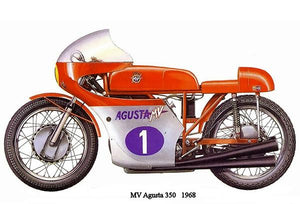 1968 MV Augusta 350 - Promotional Advertising Magnet