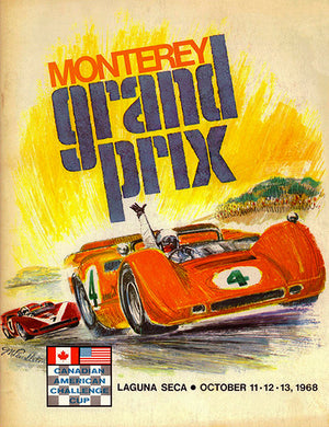 1968 Monterey Grand Prix Can Am - Laguna Seca - Promotional Advertising Poster