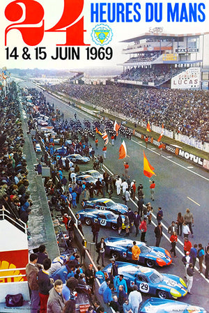 1969 24 Hours Of Le Mans - Promotional Advertising Poster
