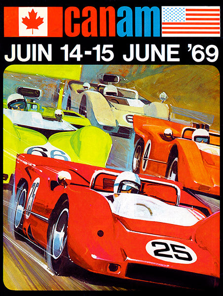 1969 Can-Am Races - Program Cover Poster