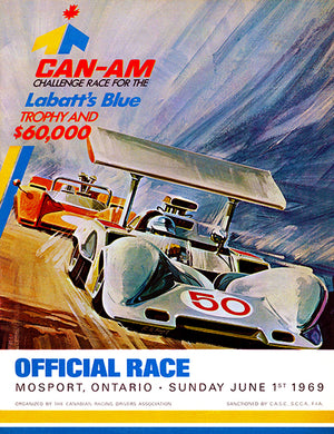 1969 Can Am Challenge Race - Mosport Ontario - Promotional Advertising Poster
