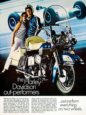1969 Harley-Davidson Electra Glide - Promotional Advertising Magnet