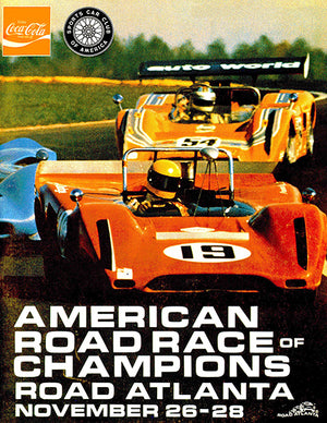 1969 SCCA American Roadrace Of Champions - Road Atlanta - Promotional Advertising Poster