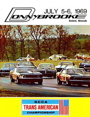 1969 SCCA Trans Am Championship - Donnybrooke - Promotional Advertising Poster