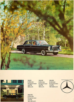 1970 Mercedes Benz Line - Promotional Advertising Poster