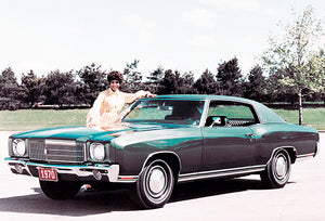 1970 Chevrolet Monte Carlo Sport Coupe - Promotional Photo Poster
