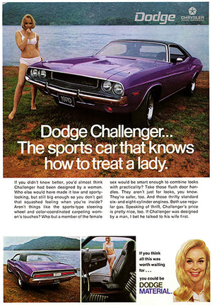 1970 Dodge Challenger - Promotional Advertising Poster