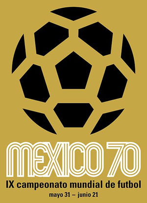 1970 FIFA World Cup - Mexico - Promotional Advertising Magnet