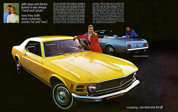 1970 Ford Mustang - Promotional Advertising Poster