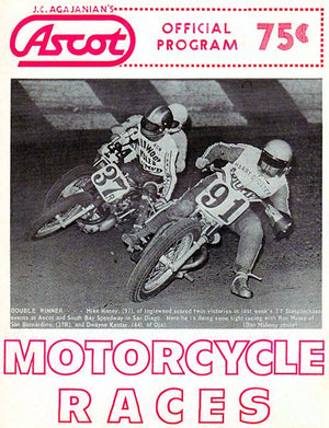 1972 Motorcycle Races - Ascot Park - Program Cover Magnet