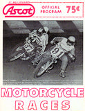 1972 Motorcycle Races - Ascot Park - Program Cover Poster