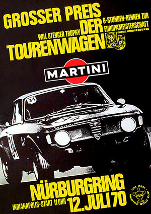 1970 Touring Car Grand Prix - Nurburgring - Alfa Romeo GTA - Promotional Poster