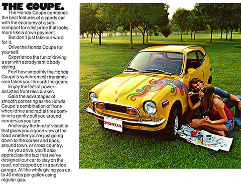 1971 Honda Z600 Coupe - Promotional Advertising Poster