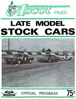 1971 Late Model Stock Car Races - Ascot Park - Program Cover Poster