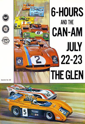 1972 6-Hours & The Can-Am - Watkins Glen - Program Cover Magnet