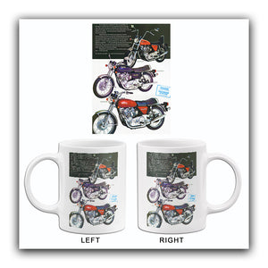 1973 Norton Commando Line - Promotional Advertising Mug