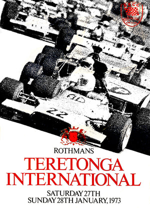 1973 Teretonga International Race - Teretonga Park - Program Cover Poster