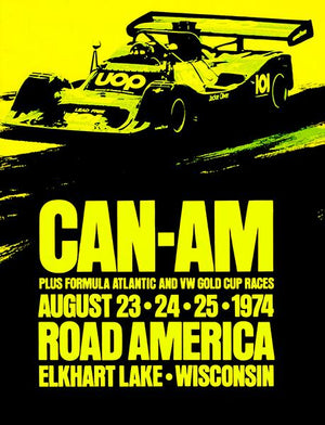1974 CAN-AM Racing - Road America Wisconsin - Promotional Advertising Magnet