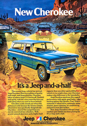 1974 Jeep Cherokee - Promotional Advertising Poster