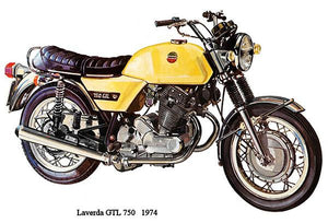1974 Laverda GTL 750 - Promotional Advertising Magnet