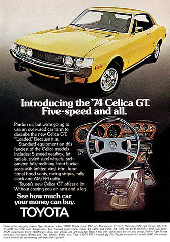 1974 Toyota Celica GT - Promotional Advertising Poster