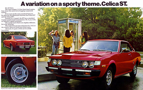 1975 Toyota Celica ST - Promotional Advertising Poster
