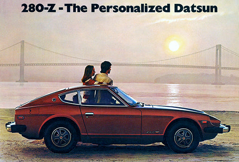 1976 Datsun 280-Z - The Personalized Datsun - Promotional Advertising Poster
