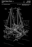 1977 - Outrigger Sailboat - G. E. Cook - Patent Art Poster