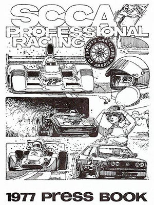 1977 SCCA Professional Racing Press Book - Cover Magnet