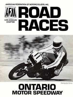 1978 AFM Road Races - Ontario Motor Speedway - Program Cover Magnet