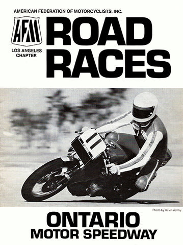 1978 AFM Road Races - Ontario Motor Speedway - Program Cover Poster