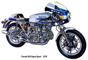 1978 Ducati 900 Super Sport - Promotional Advertising Magnet