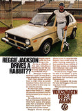 1978 Volkswagon VW Rabbit - Reggie Jackson - Promotional Advertising Mug