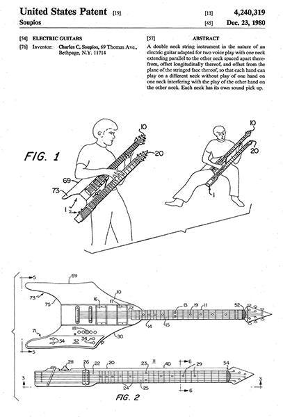 1980 - Electric Guitars - C. C. Soupios - Patent Art Mug