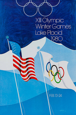 1980 XIII Olympic Winter Games - Lake Placid - Promotional Advertising Magnet