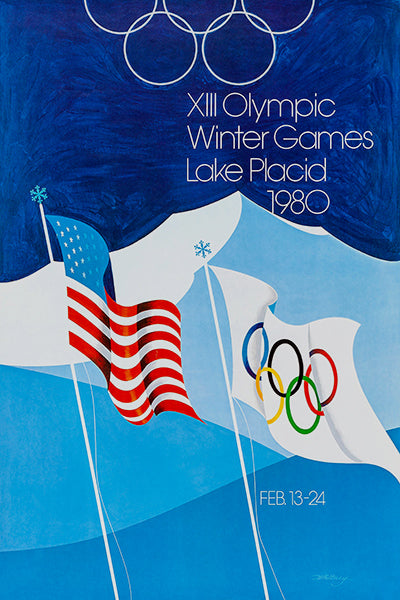 1980 XIII Olympic Winter Games - Lake Placid - Promotional Advertising Poster