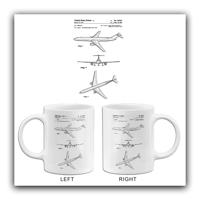 1981 - Boeing Airplane Design - J. F. Brown, Jr. - Patent Art Mug
