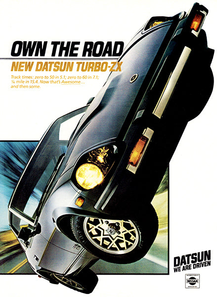 1981 Datsun 280 ZX Turbo - Promotional Advertising Poster