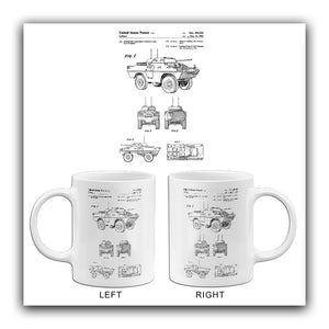 1982 - Combined Armored Vehicle and Gun Turret - J. C. LeBlanc - Patent Art Mug