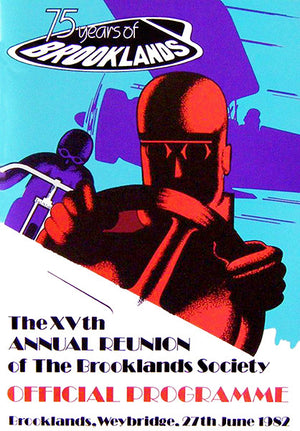 1982 Brooklands - 75th Annual Reunion Races - Program Cover Poster