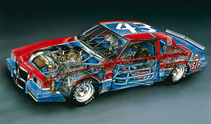 1982 Pontiac Grand Prix NASCAR - Richard Petty - Cutaway Drawing Poster