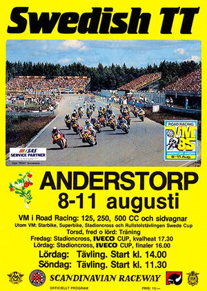 1985 Swedish TT Motorcycle Race - Promotional Advertising Magnet