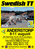1985 Swedish TT Motorcycle Race - Promotional Advertising Poster