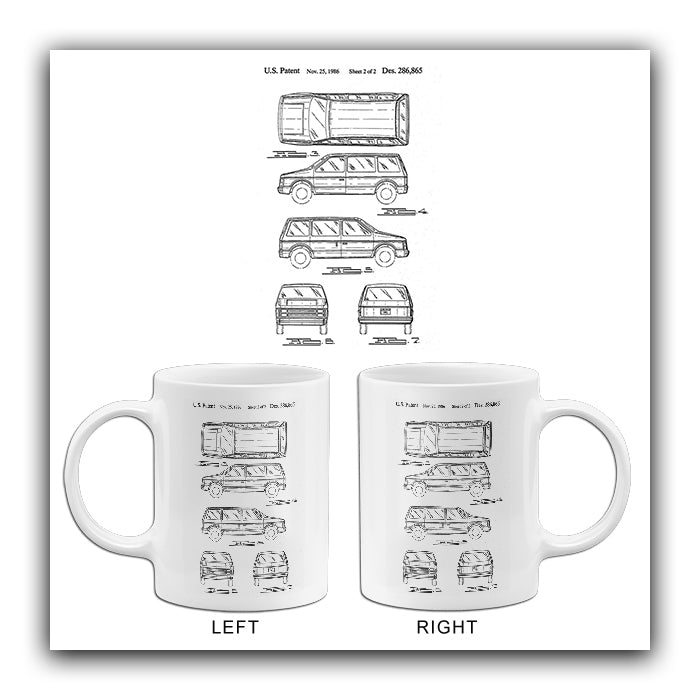 1986 - Automobile Body - W. A. Dayton - Patent Art Mug